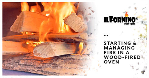 Starting And Managing Fire In A Wood-fired Oven