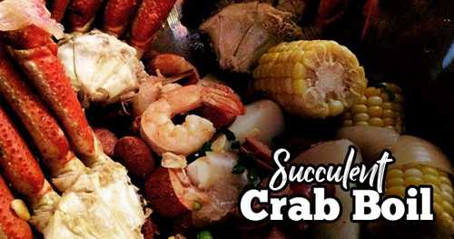 Succulent Crab Boil in Wood Fired Oven