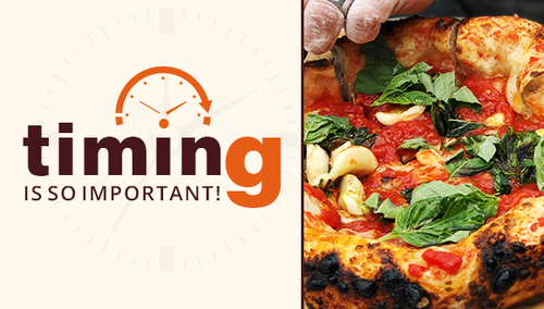 Timing is so important! When using your ilFornino Wood Fired Pizza Oven