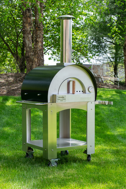 Roma Series – Mini Stainless Steel Wood Burning Pizza Oven with Stand