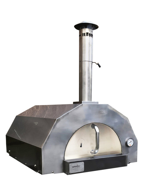 ilFornino® Fiamma Rossa – Grande Stainless Steel Wood Burning Pizza Oven Counter Top