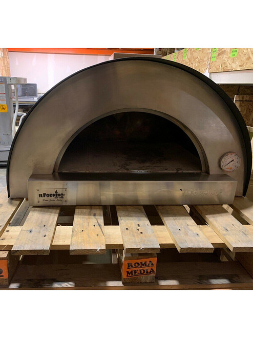 Roma Series – Media Stainless Steel Wood Burning Pizza Oven with Stand / USED