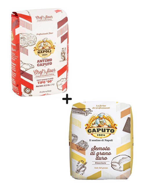 "Caputo ""00"" Chef Flour and Caputo Semola Rimacinata  (1 Bags each)"