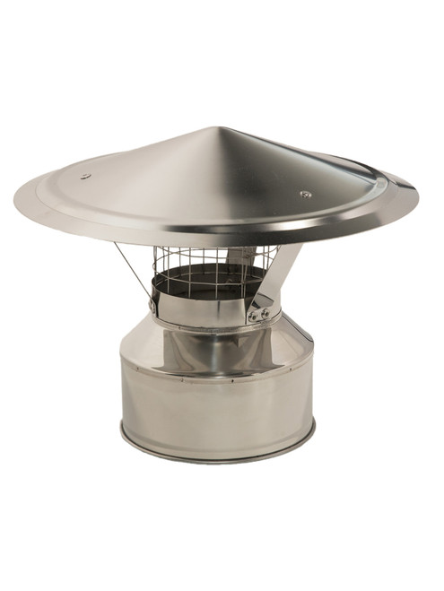 Chimney Rain Cap with Spark Arrestor 4""