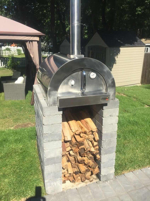 Wood Fired Pizza Oven- ilFornino Professional Series Wood Fired Pizza Oven No Cart