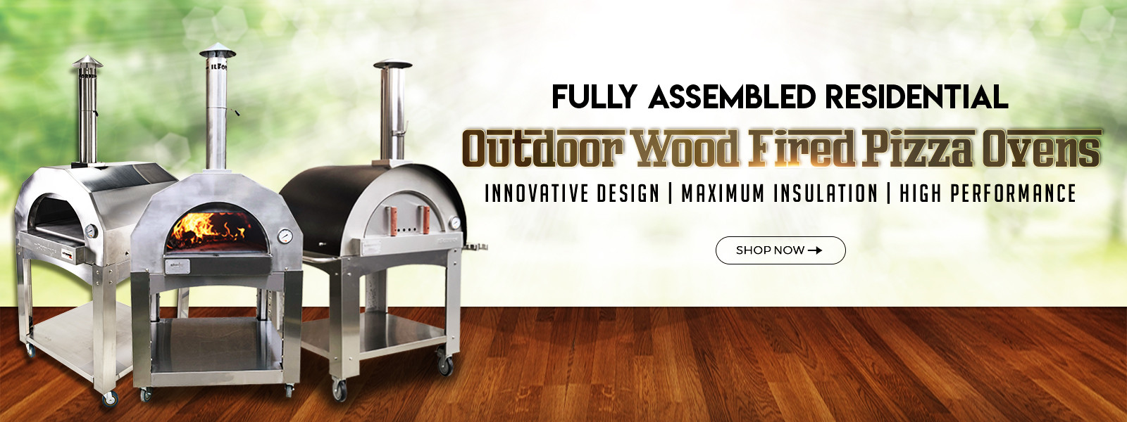 Slider-Wood Fired Pizza Oven for Home