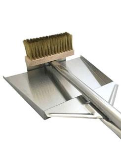 ilFornino® Ash Shovel and Brush with Scraper
