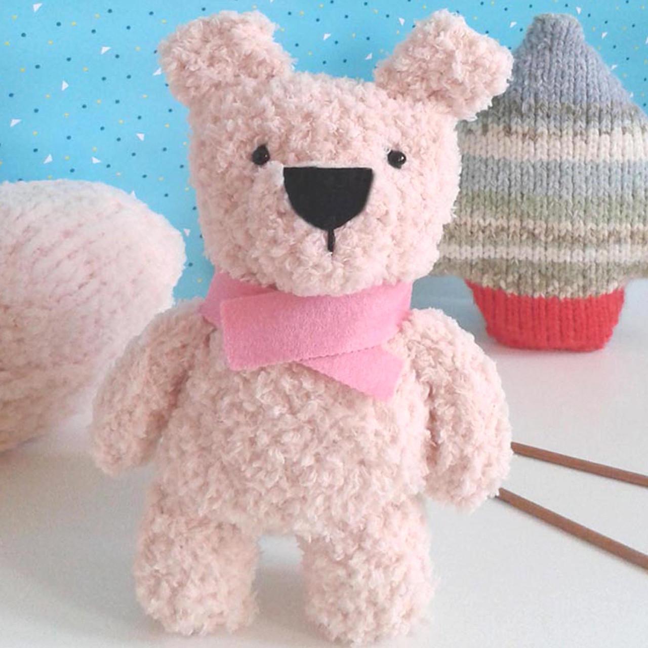 Fluffy Teddy Bear Knitting Pattern