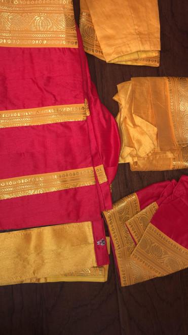 Bharat Natyam Costume BNC-5-RED-YLW
