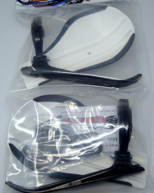 Enduro Engineering Composite Mount Moto Roost Deflector Handguards White 53-220