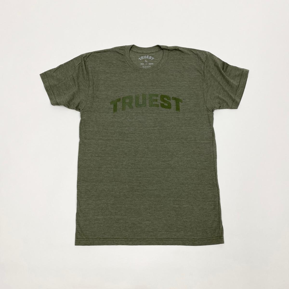 Truest Arc Velvet T-shirt Olive