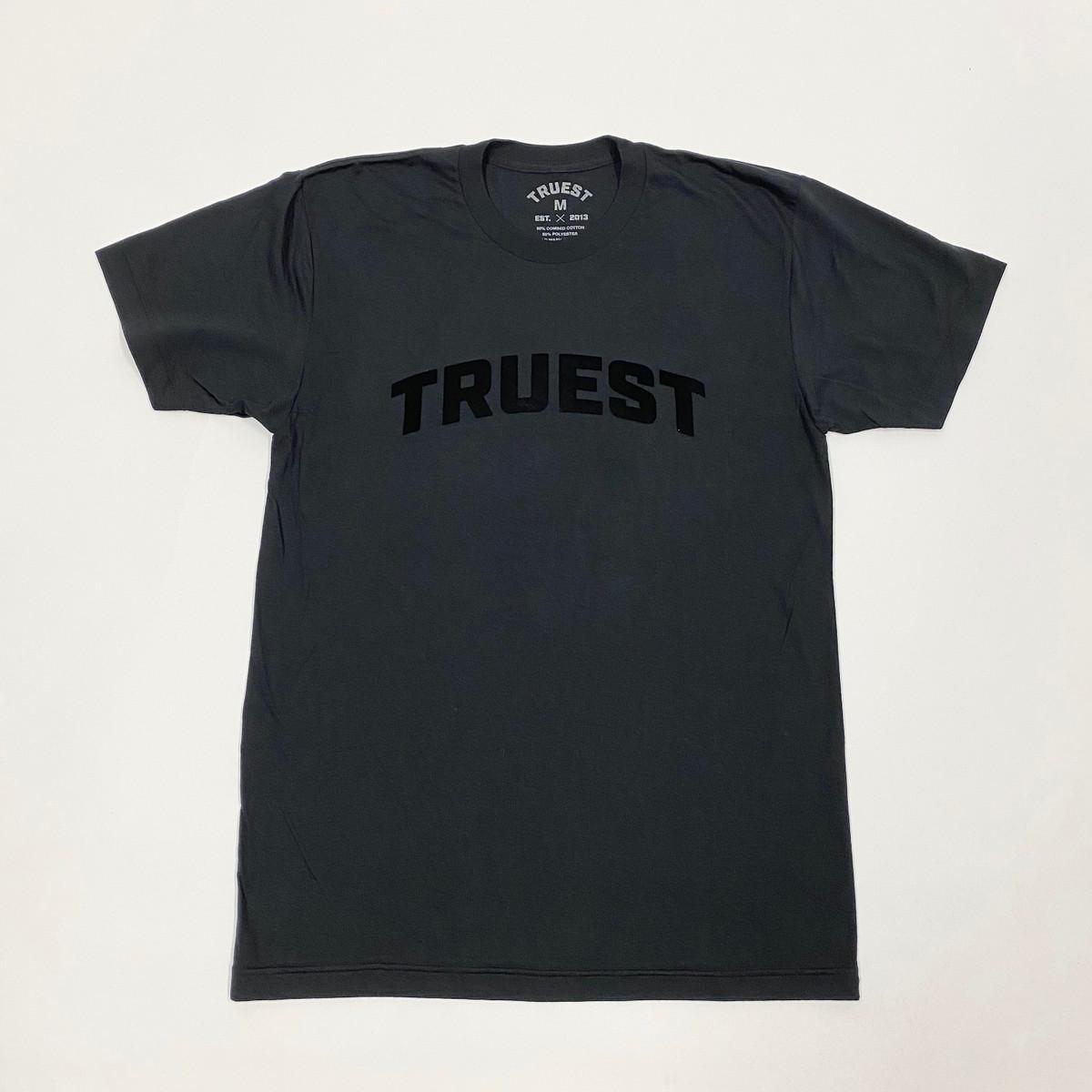 Truest Arc Velvet T-shirt Black