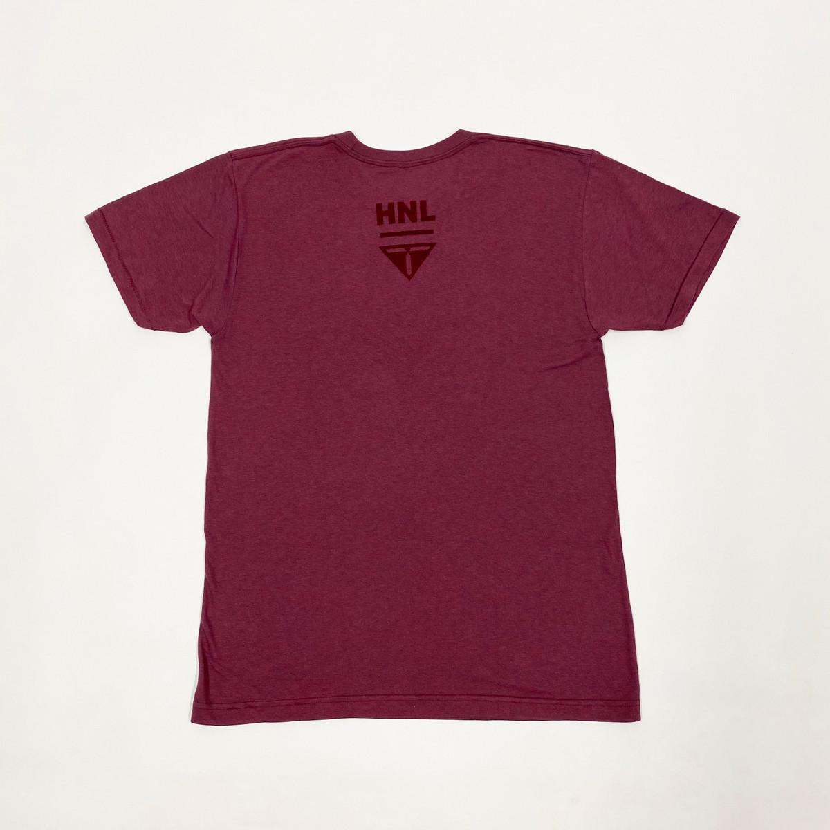 Truest Arc Velvet T-shirt Cranberry