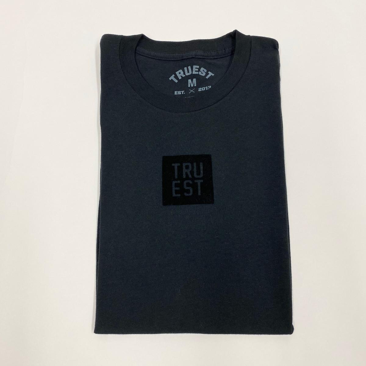 Truest Small Box Velvet T-shirt Black