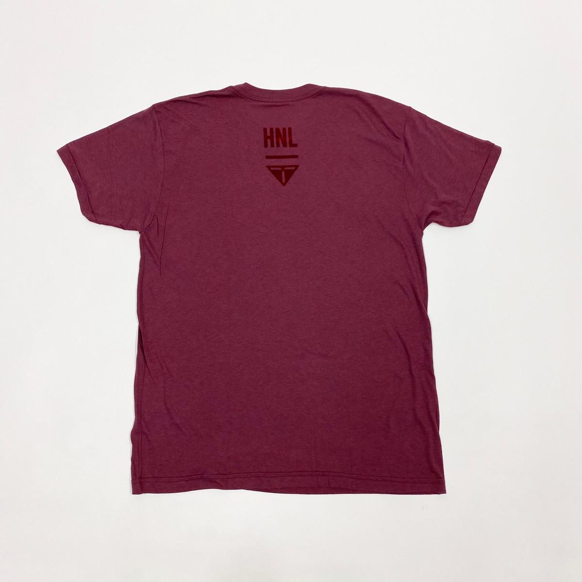 Truest Small Box Velvet T-shirt Cranberry