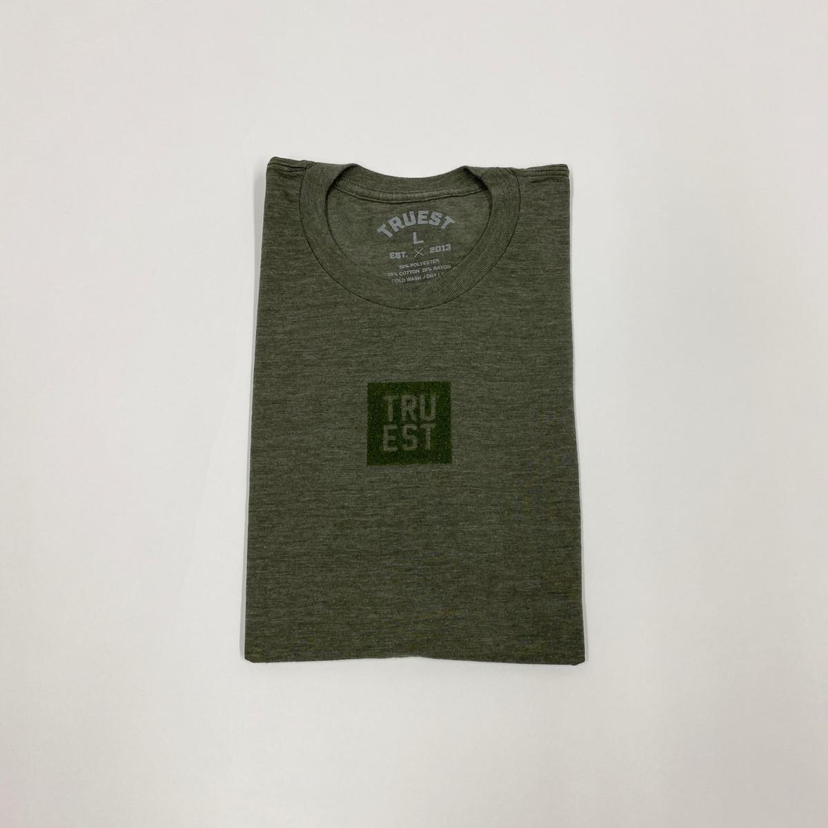 Truest Small Box Velvet T-shirt Olive