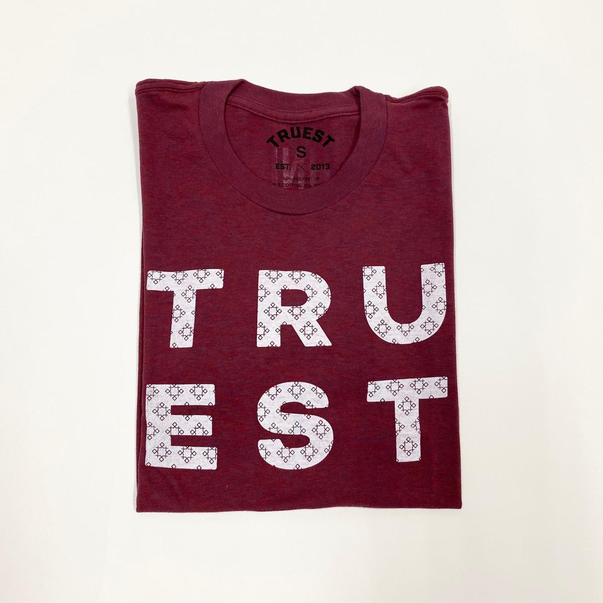 Truest Diamond Pattern T-shirt Cranberry