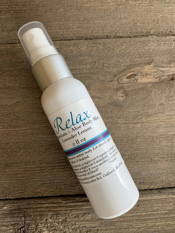 Relax magnesium and aloe aromatherapy body mist