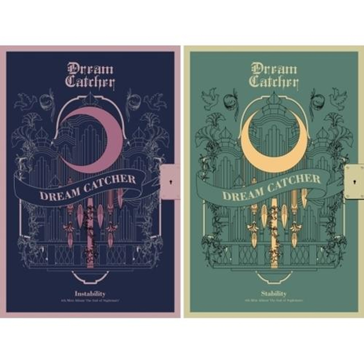 DREAM CATCHER - 4th Mini [The End of Nightmare] (A:Instability Ver / B: Stability Ver.) + Poster