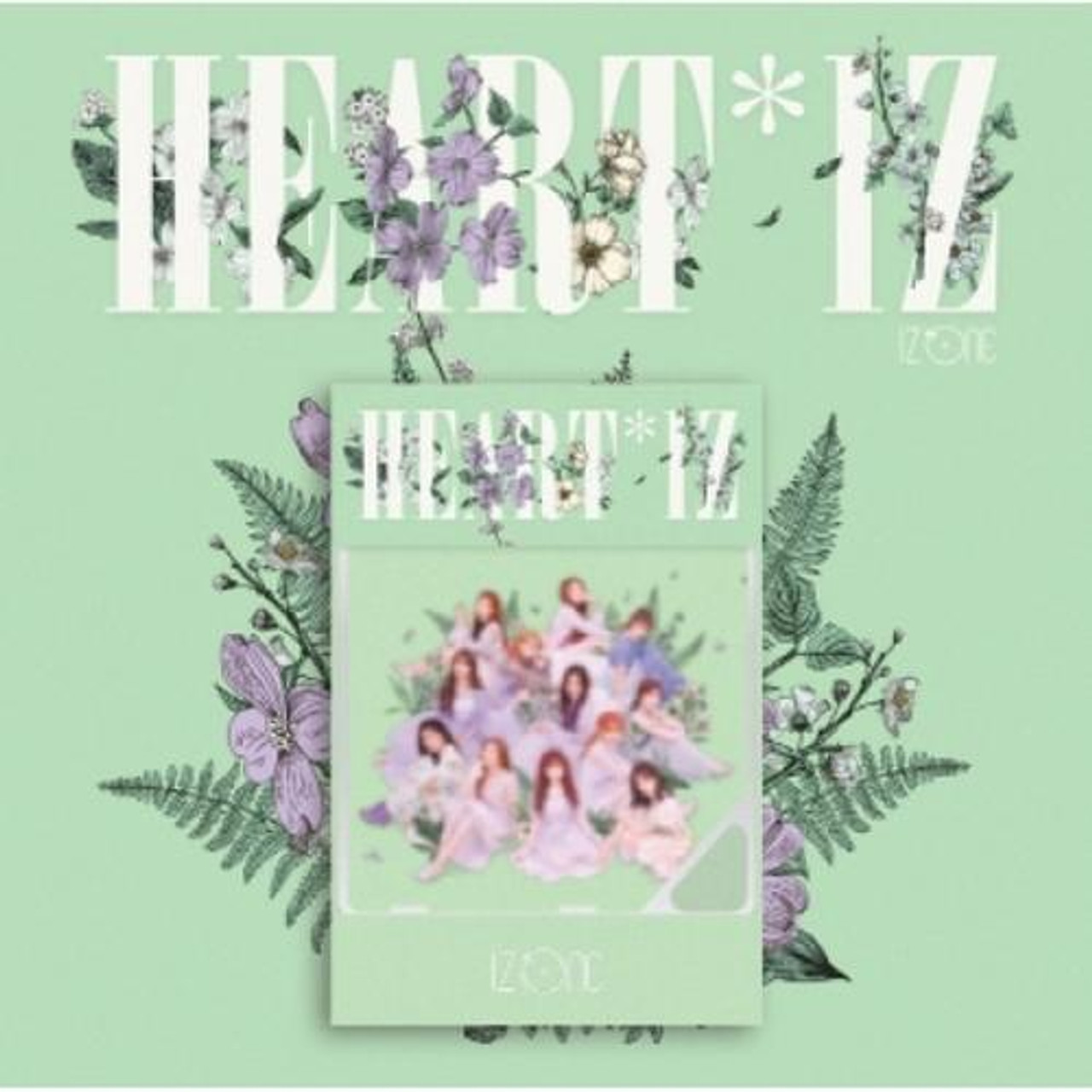 IZ*ONE - 2nd Mini [HEART*IZ] (A: Violeta/ B:SapphireVer.) (Kihno Album -ONLY DHL Shipping)