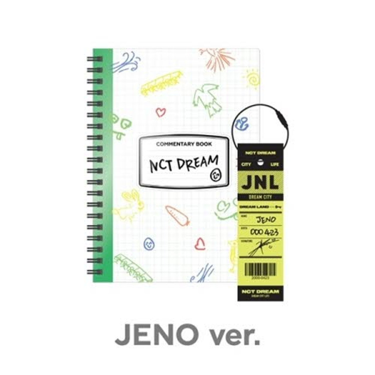 NCT DREAM - [RENJUN] NCT LIFE : DREAM in Wonderland Commentary Book + Luggage Tag SET