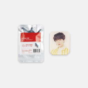 BTS World Tour [LOVE YOURSELF] Official MD - ACRYLIC BADGE
