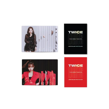 TWICE - LENTICULAR PHOTO CARD [TWICELIGHTS] (A:Black / B:Red version)