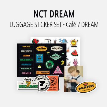 NCT DREAM - LUGGAGE STICKER SET - Café 7 DREAM