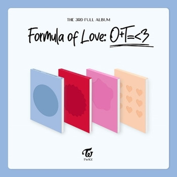 TWICE - Vol.3 [Formula of Love: O+T=<3] Set(4pcs) +Poster4 (+Hologram Photo Cards Set)