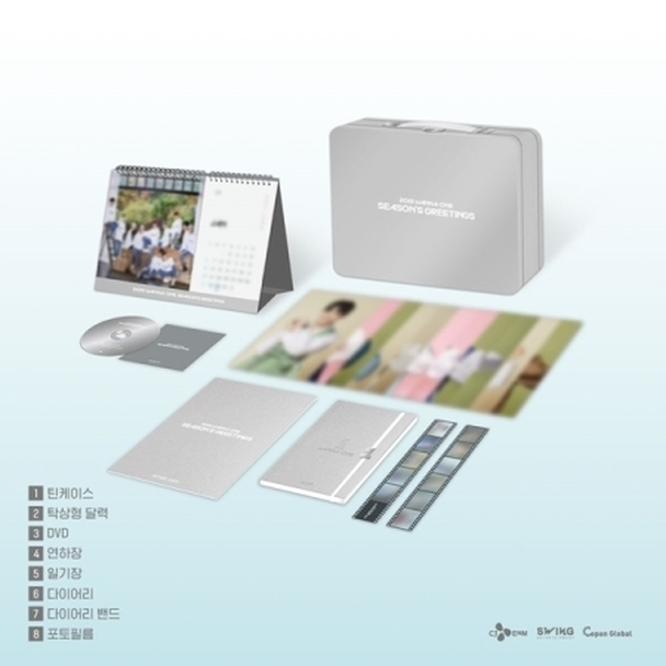 WANNA ONE - 2019 Season's Greetings (+Photocard 11pcs set) + Behind book +  Preorder Photocard Set