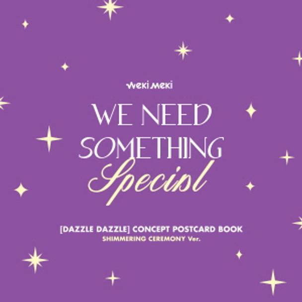 Weki Meki - DIGITAL SINGLE  'DAZZLE DAZZLE'OFFICIAL MD  [CONCEPT POSTCARD BOOK] SHIMMERING CEREMONY Ver.