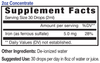 Eidon Iron mineral supplement, Supplement Facts