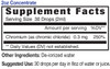2oz Chromium liquid mineral supplement facts - Eidon Minerals