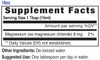18oz Magnesium supplement facts - Eidon Ionic Minerals