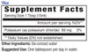 18oz Potassium mineral supplement facts - Eidon Ionic Minerals