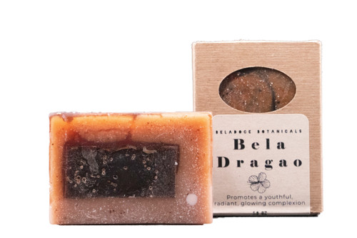 Bela Dragao is an ultra-concentrated dragons blood and royal jelly facial soap.