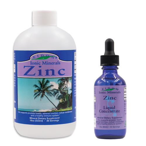 Zinc Ionic Mineral Supplement. Bioavailable, all natural, 100% Vegan