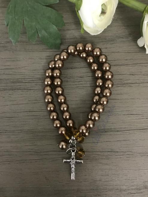 Cross Bracelet: Bronze