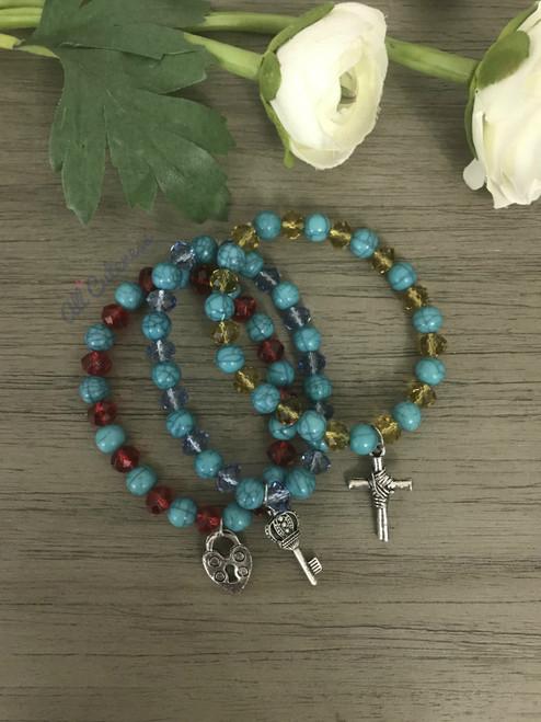 Lovely Bracelet Set: Heart