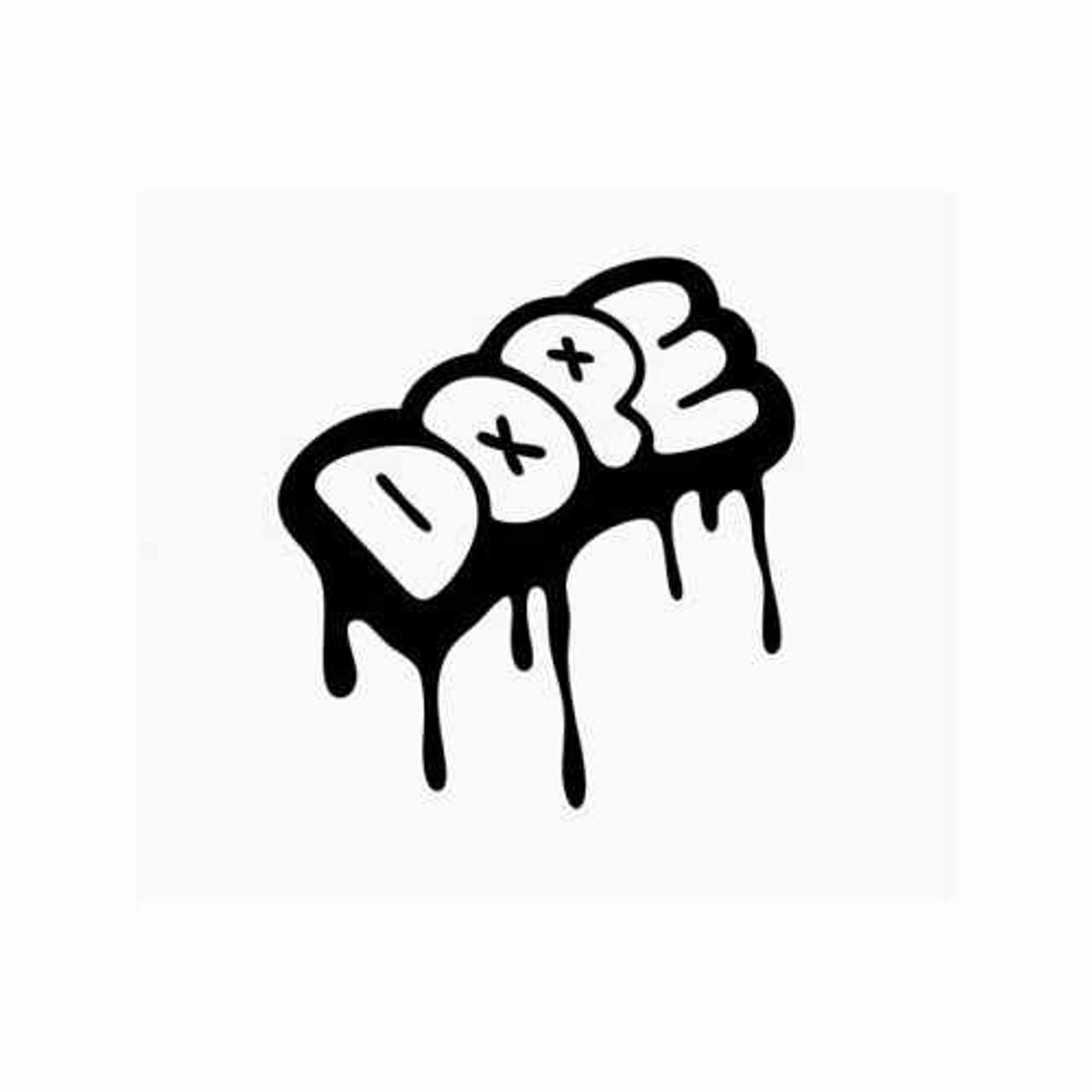 Dope graffiti drip vinyl decal sticker