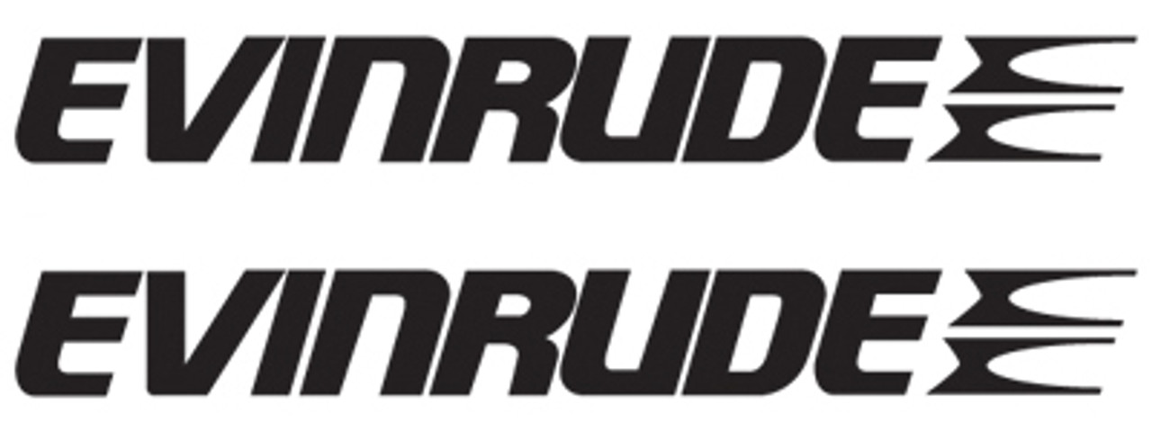 Evinrude Outboard Boat Motors Logo Decal Sticker