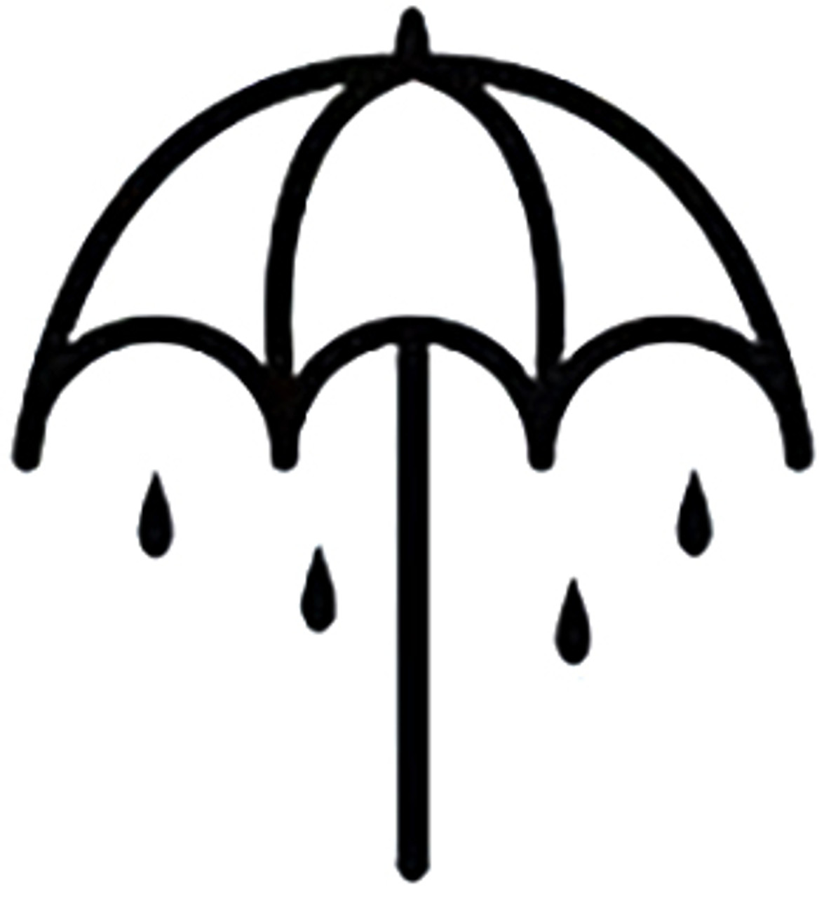 BRING ME THE HORIZON UMBRELLA Band Logo DecalUpc Horizon Logo