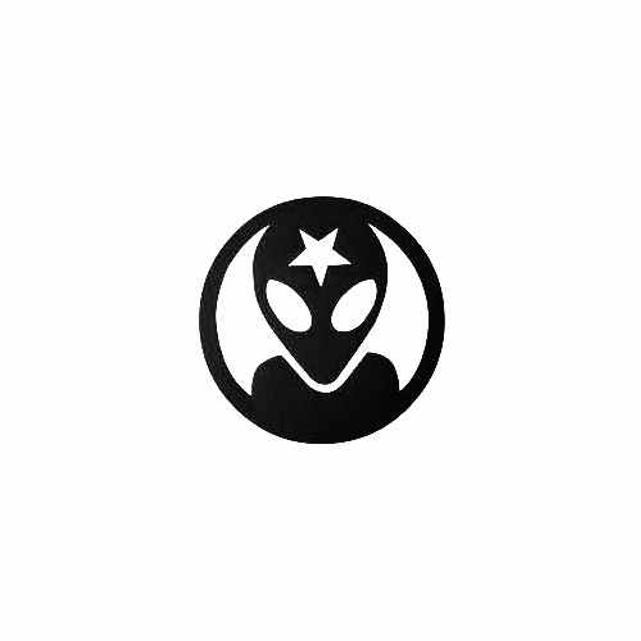 Alien Face Premium Die-Cut Decal Vinyl Sticker available in different size and colors.