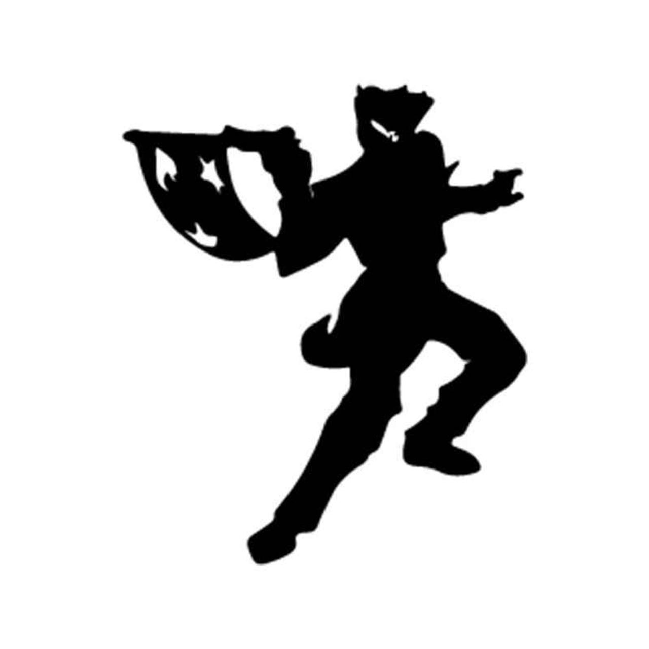 Batman the joker silhouette vinyl sticker