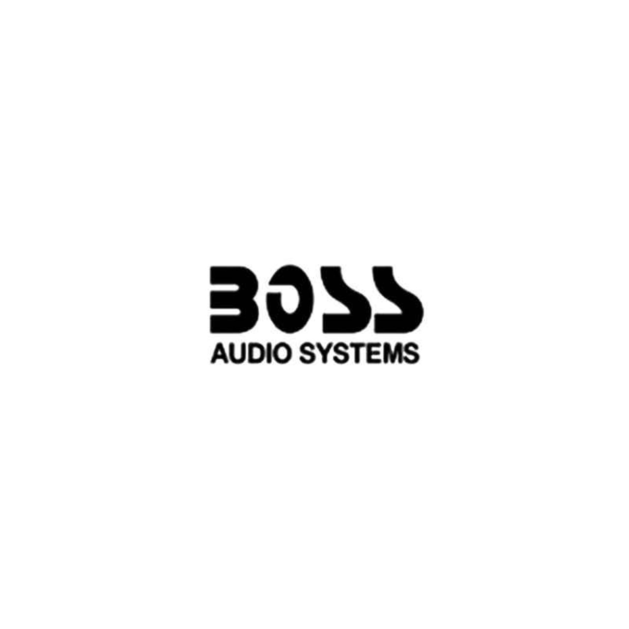 "2x Boss Audio Systems Decal Stickers 3.0/"" x 0.95/"" Metallic gold chrome logo pro"