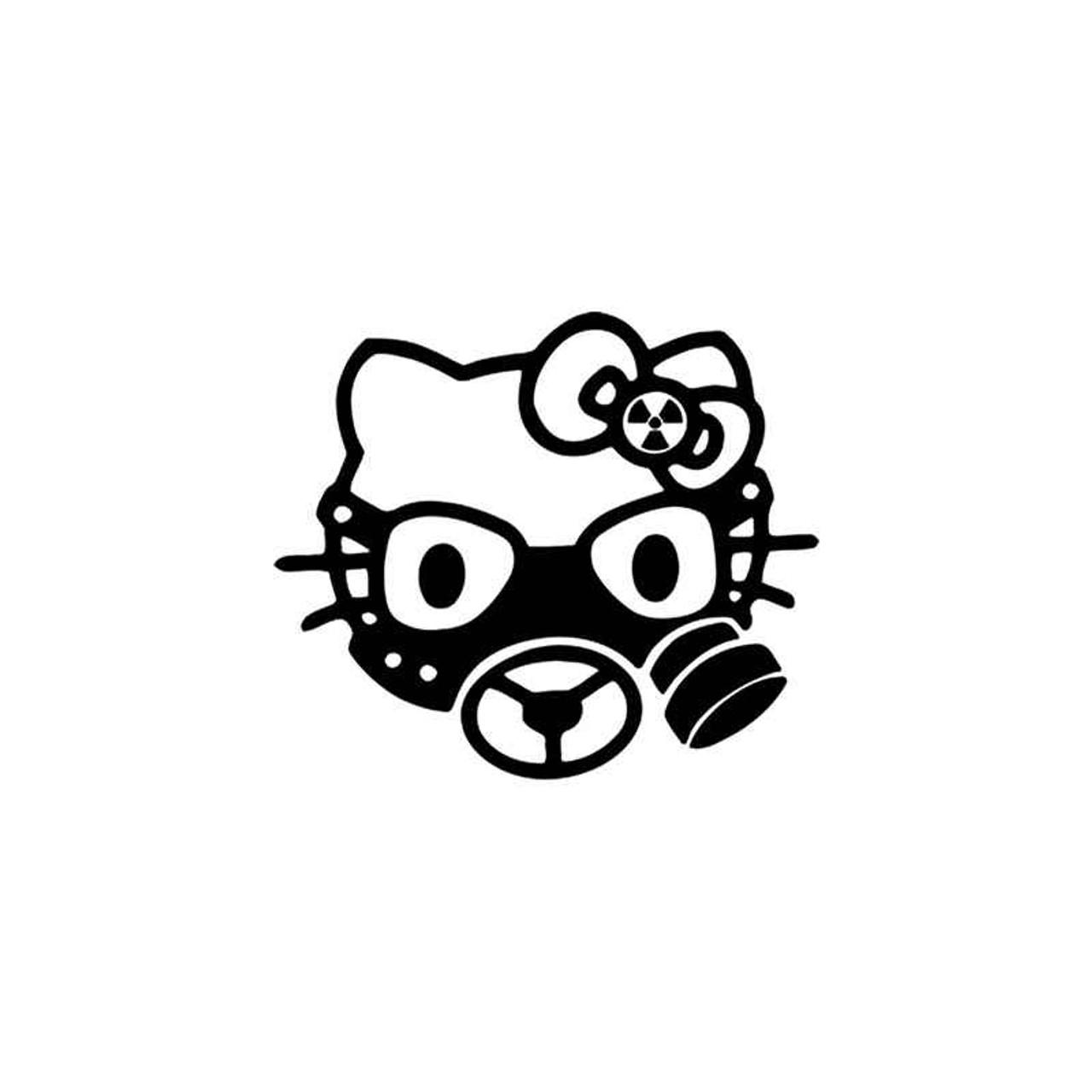 316eca13c Hello Kitty s Hello Kitty Gas Mask Vinyl Sticker