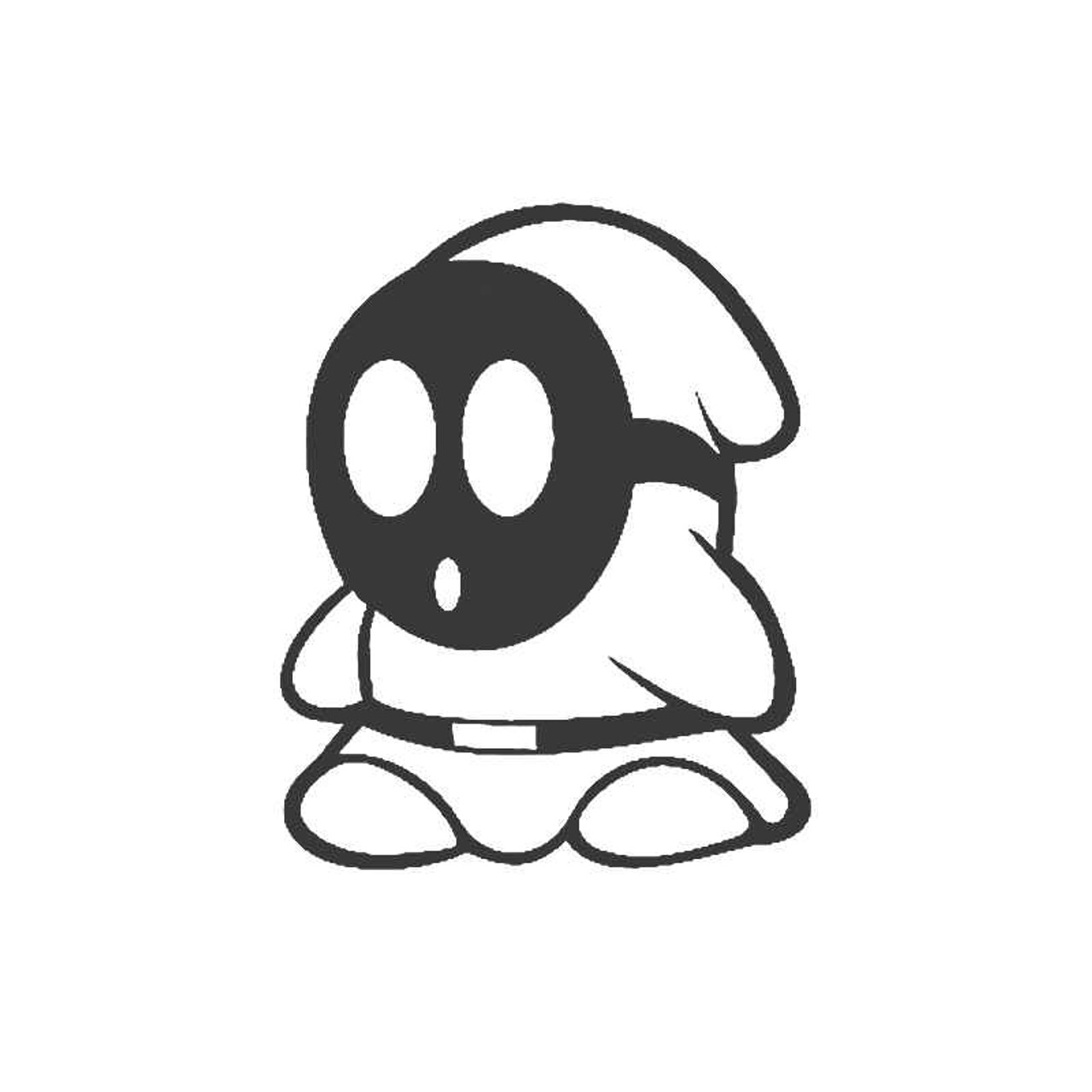 Shy Guy 3ds Wii Nintendo Nes Snes N64 Mario Kirby Toad Vinyl Sticker
