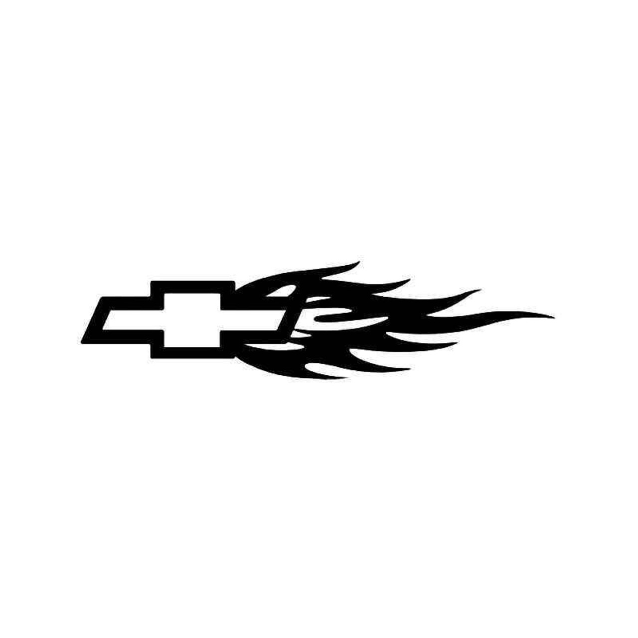 Chevy Bow Tie Flame 2 Vinyl Sticker