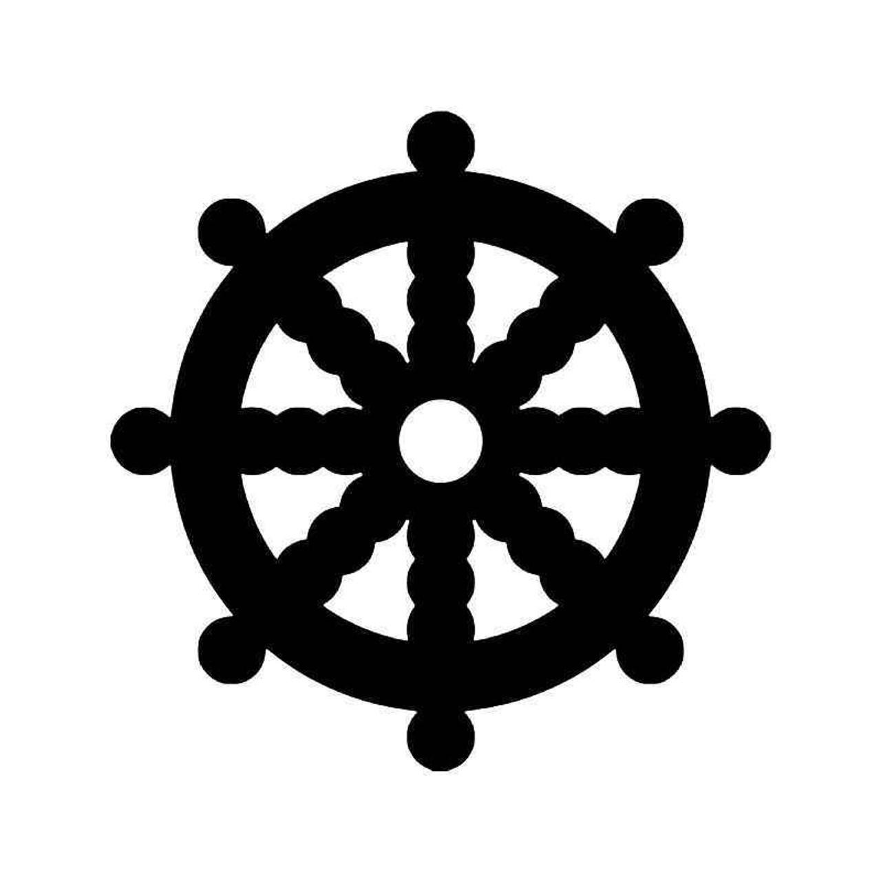 Dharma Wheel Yoga Buddha Symbol 1 Vinyl Sticker