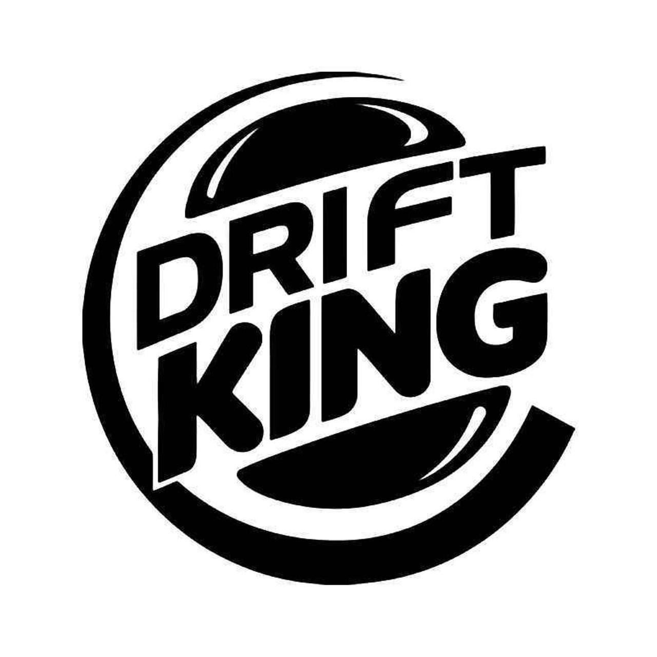 Drift King Burger Jdm Japanese Vinyl Sticker